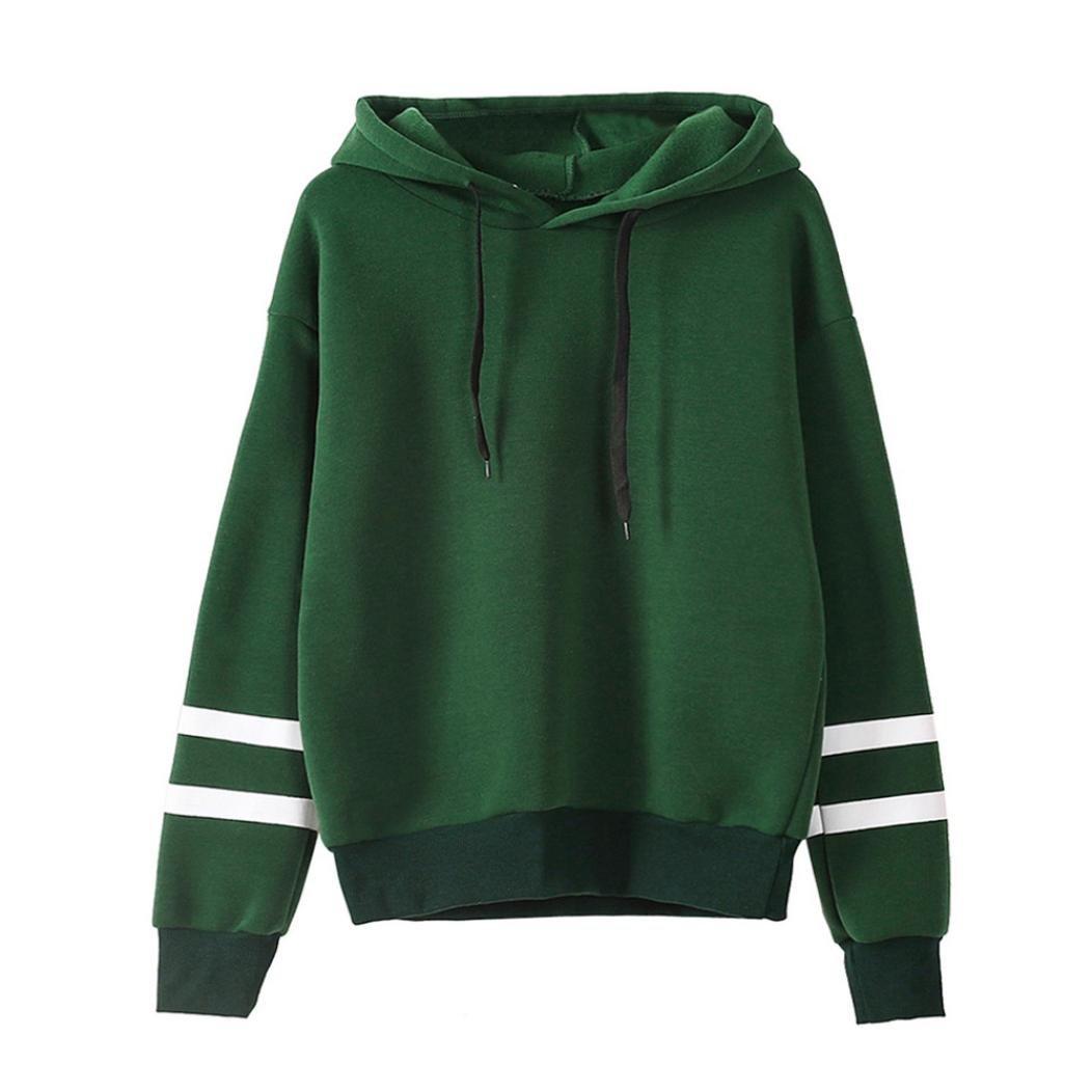 c536c2bc7b good ESAILQ Damen Langarm Hoodie Sweatshirt Pullover mit Kapuze Pullover  Tops Bluse Grün mlSruDrZ