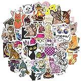 QTL Waterproof Cat Vinyl Stickers Bomb Laptop Water Bottle Folders Toys for Kids(50Pcs/Pack)