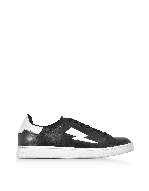 Neil Barrett メンズ PBCT204F9006524 ブラック 革 運動靴 B07DXKTTRP