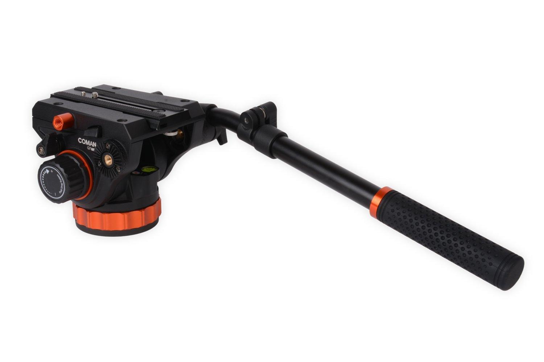 COMAN Q7 + 75mmハーフボール+フラットベース+クイックリリースプレート付きビデオヘッドボールヘッドチルトヘッド   B071GLLC1C