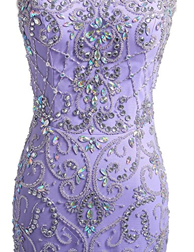 Beaded Open Prom Bridal Annie Dresses Lilac Party Bodice Back s Elegant Mermaid wxppIU1