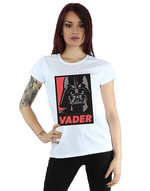 Star Wars mujer Darth Vader Poster Camiseta X-Small Blanco
