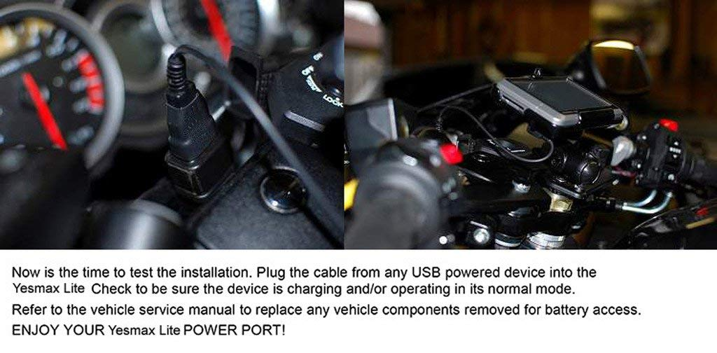 Toma Impermeable 12 V//24 V para Moto ATV Motoslitta iPad Smartphone Freesoo Carga r/ápida Cargador de Moto USB 2,1 A