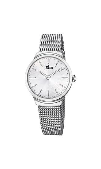 Lotus Watches Reloj Análogo clásico para Mujer de Cuarzo con Correa en Acero Inoxidable 18495/