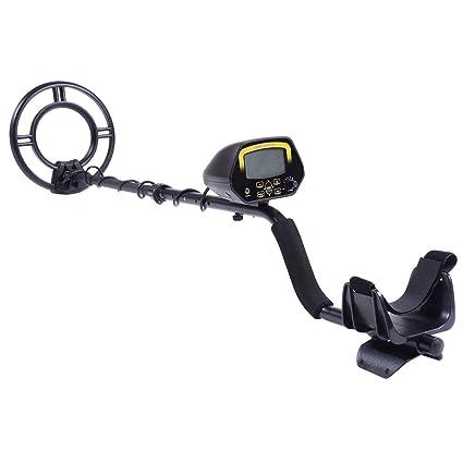 Amazon.com : Goplus LCD Metal Detector Kit Sensitive Search Treasure Hunter w/Shovel Waterproof Coil : Garden & Outdoor