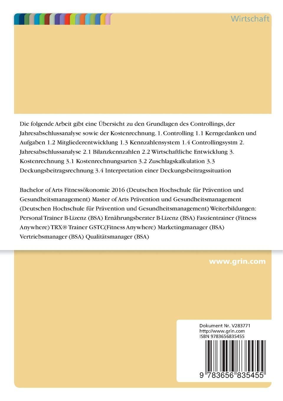 bachelor thesis fitnessökonomie