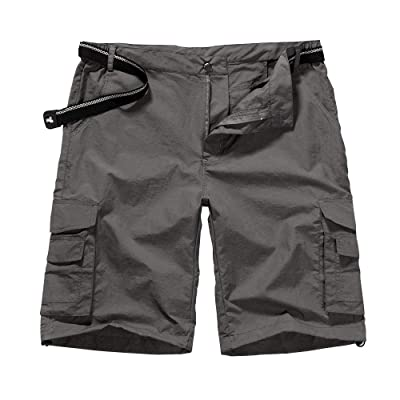 .com : Men's Outdoor Tactical Shorts Lightweight Expandable Waist Cargo Shorts with Multi Pockets Quick Dry Water Resistant : Clothing