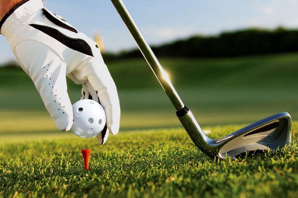 Crown Sporting Goods 24 Polyurethane White Plastic Golf Balls – Bulk Set of Wiffle Golf Balls for Swing Practice, Driving Range, Home Use