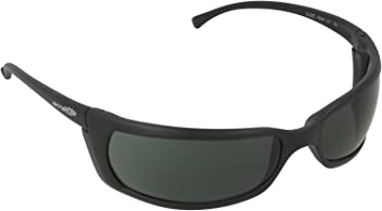 Arnette Mens Slide Sunglasses (AN4007) Black Matte/Green Plastic - Non-Polarized
