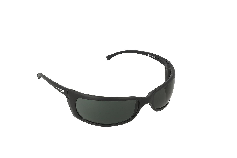 Arnette Mens Slide Sunglasses (AN4007) Black Matte Green Plastic -  Non-Polarized - 66mm 568fdcd99363