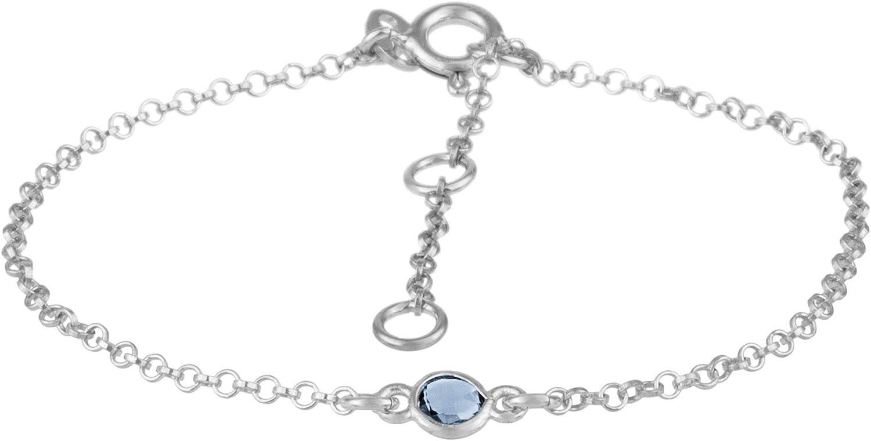 Córdoba Jewels |Pulsera en Plata de Ley 925 con Piedra semipreciosa con diseño Dolce Calcedonia Silver