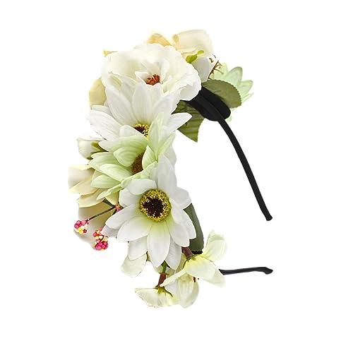 Blesiya Blume Haarreif Blumenkrone Hochzeit Kopfband Haarkranz Fur