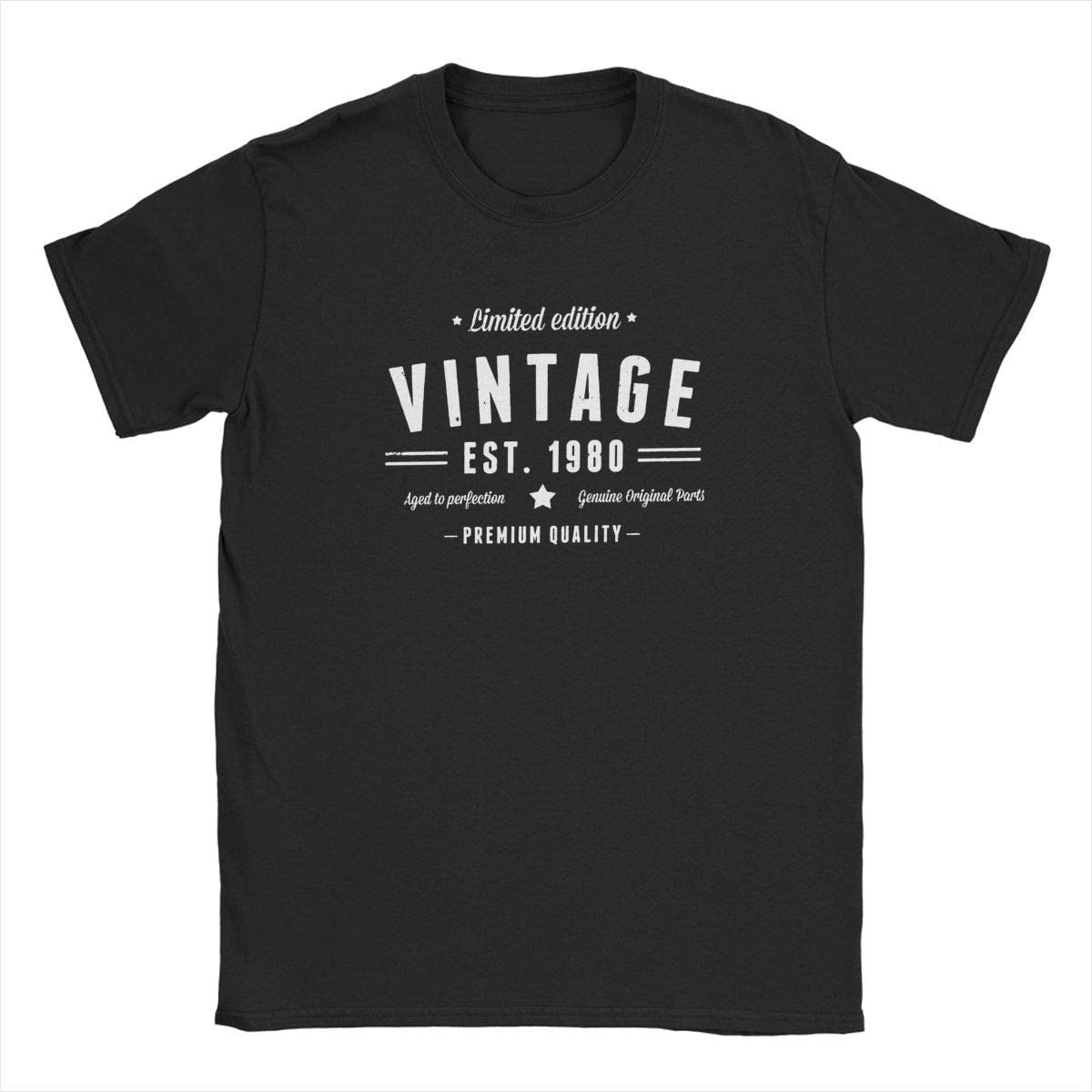 CHAMPRINT Limited Edition Vintage Est 1980 T Shirt 40th Birthday Gift Tees Tops for Men