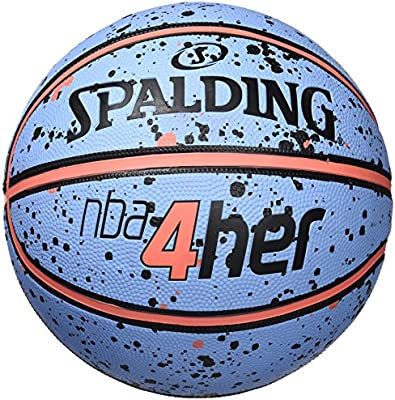 Spalding NBA Balón de Baloncesto, Mujer, Azul/Naranja, 6: Amazon ...