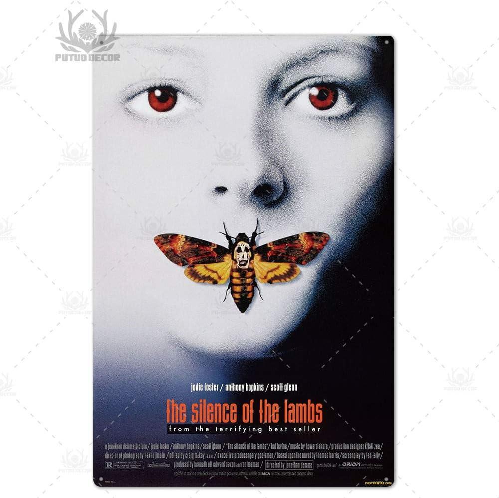 Fddggf Film dhorreur Affiche en m/étal Plaque Thriller Film m/étal /étain Signe Bar d/écoration Murale 7.8x11.8 Pouces TH4172
