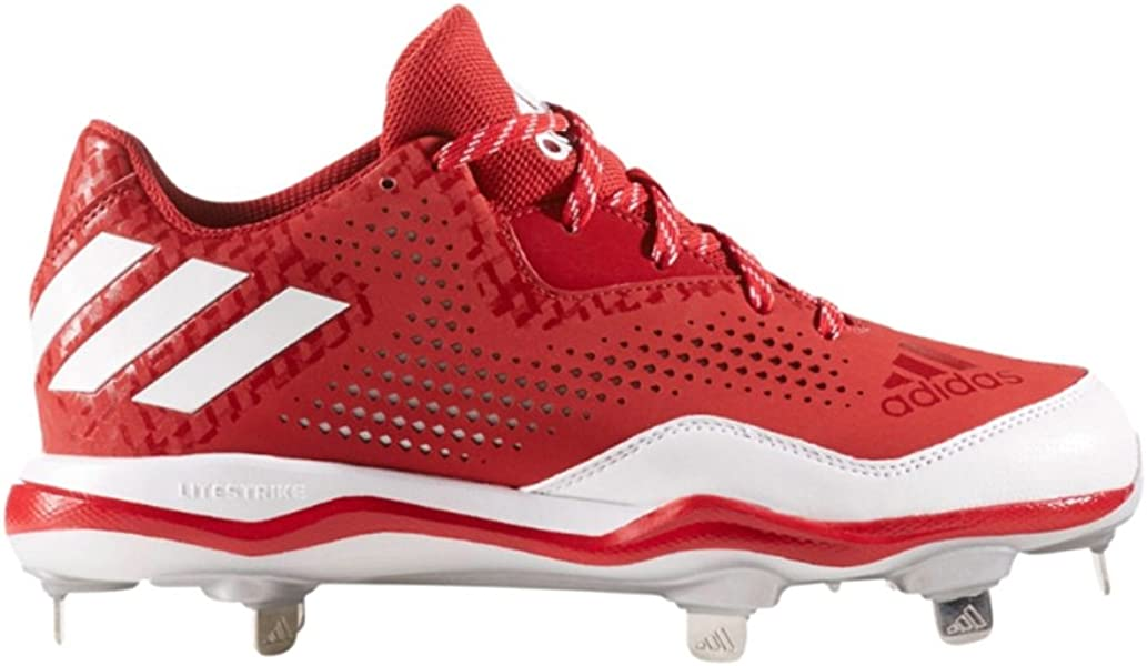 da0f3298abc adidas Women s PowerAlley 4 W Baseball Shoe Power Red White Silver Metallic  9 M