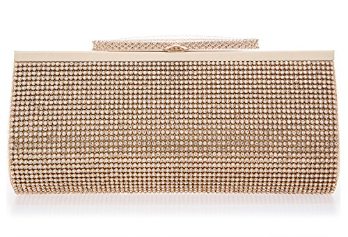 Evening Clutch Gold - Crystal Clutch for Women Large Evening Bag