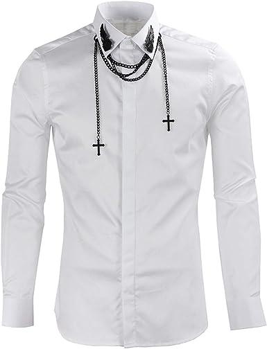 Camisa de Manga Larga con 3 eslabones de Cadena de Color ...