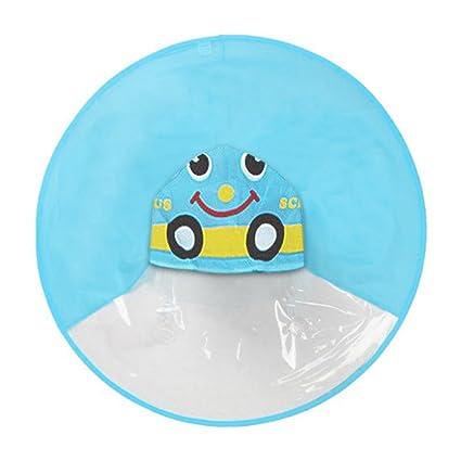 47419b901f5c6 Amazon.com  Birdfly Unisex Kids Cartoon Duck Movement Umbrella Hat Magical  Raincoat and Rain Boot for Toddler Baby Kid (S