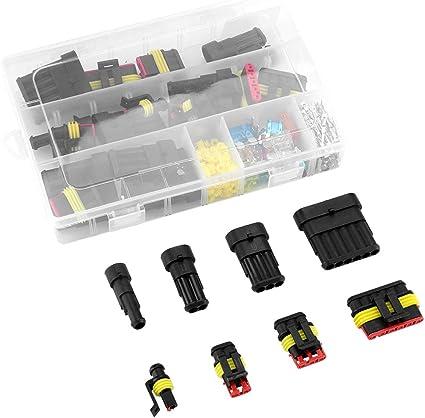 AUTO IMPERMEABILE 240pcs Connettore Elettrico 1//2//3//4//5//6 PIN modo Terminali Con