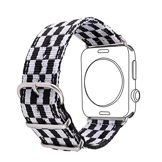 30 opinioni per Bandmax 42MM Nylon Fabrics Watchband for Apple Watch Fashion Grid Design High