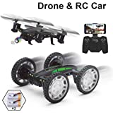 Remote Control Car, RC Cars, Drone with 720P Camera Live Video, Rolytoy Drones for Kids Adults, Wifi Quadcopter Buggy 360°Flip Headless Mode with 2pcs 650mAh Rechargeable Batteries