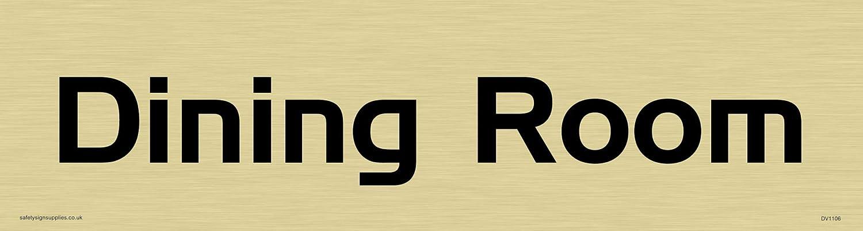 Handel gothic font plastica semi-rigida argento 225/mm H x 60/mm W Viking segni dv1101-l26-sdirettore targa per porta