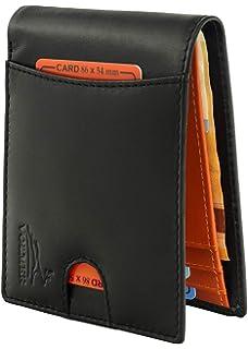 a2d364e35 Volmer ® Billetera sin Clip para Billetes, Tarjetero de Cuero con  protección RFID