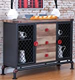 Cheap Furniture of America CM3365SV Brixton I Antique Black Server Dining Room Buffet