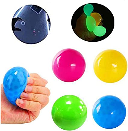 APORAKE 4 Glow Luminescent Stress Relief Balls Squishy Sticky Ball Anxiety PGB+R, 45MM Fun Toy for ADHD Stress Relief Toys for Kids and Adults Tear-Resistant Non-Toxic OCD