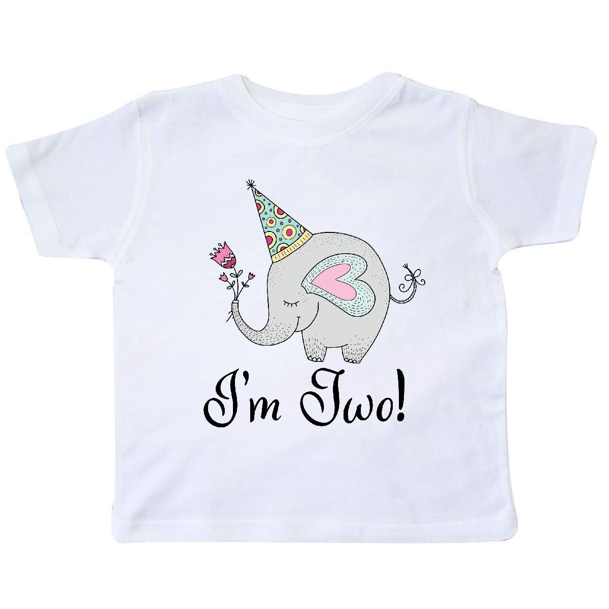 inktastic 2nd Birthday Elephant 2 Year Old Girl Toddler T-Shirt