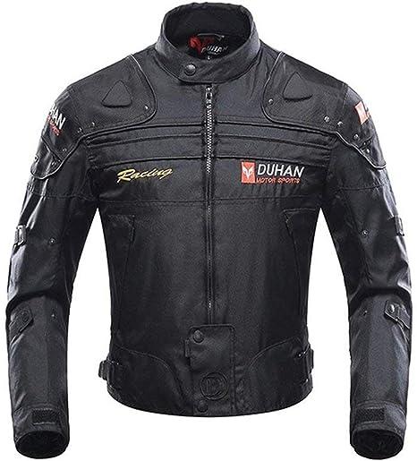 MOOTOO Giacca Motocicletta, giubbotto moto uomo estiva 5 Armatura protettiva per uomo Donna, protezioni abbigliamento moto (Nero, L)