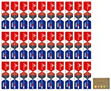 Uni Mitsubishi Vermilion Red and Prussian Blue Pencil, 5:5 Hexagonal Body, 30-pack/total 360 pcs, Sticky Notes Value Set