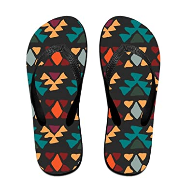 9a5070c0719b63 Amazon.com  Ethnic Seamless Top Quality Unisex Flip Flops Rubber Thong  Sandal Beach Slipper  Clothing
