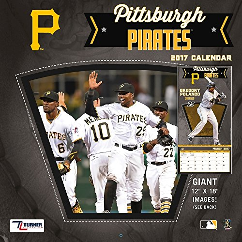 "Turner Licensing Sport 2017 Pittsburgh Pirates Team Wall Calendar, 12""X12"" (17998011860)"