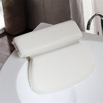 kati-way Almohada de baño, esponja de espuma de poliuretano, impermeable y suave