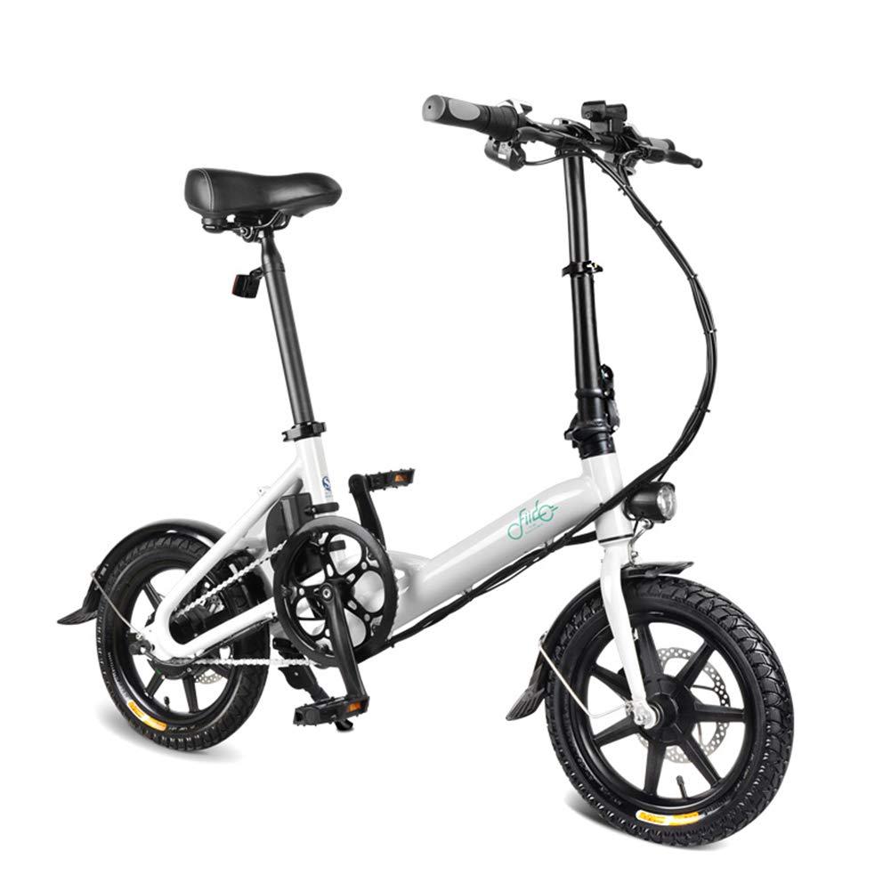 Tenflyer 1ピース電動折りたたみ自転車折りたたみ自転車ダブルディスクブレーキポータブル用サイクリング  white B07S1L949J