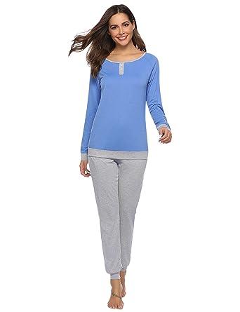 09c1fd40e Abollria Pijama para Mujer 2 Piezas Conjuntos Camiseta y Pantalones Ropa de  Casa Mujer  Amazon.es  Ropa y accesorios