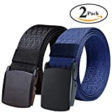 Fairwin Men's Tactical Nylon Web Belt with YKK Plastic Buckle and Metal...