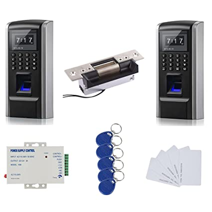 Double Way Tracking Bio Fingerprint & RFID Sistema de Control de Acceso Kit & Electric Strike