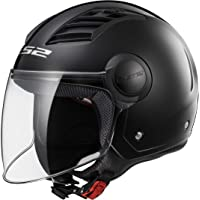 CASCO ECONÓMICO LS2 AIRFLOW COLOR NEGRO MATE, TALLA