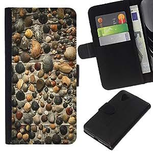 KLONGSHOP // Tirón de la caja Cartera de cuero con ranuras para tarjetas - gazeta fon rakushki galka - LG Nexus 5 D820 D821 //