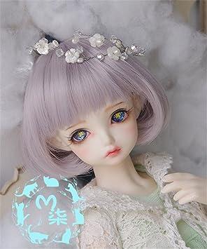 Tita-Doremi BJD Poup/ée Perruque Ball-jointed Doll 1//6 6-7 Inch 15-17cm SD MSD DZ DOD LUTS Dollfie Red Perruque Cheveux Perruque Seulement,pas une poup/ée
