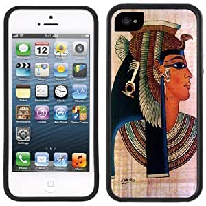 Cleopatra Egyptian Queen Handmade iPhone 5 Black Bumper Plastic Case