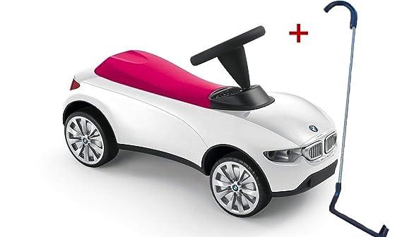 BMW Baby Racer III Weiß Himbeerrot - Baby Racer BMW inklusive Schubstange