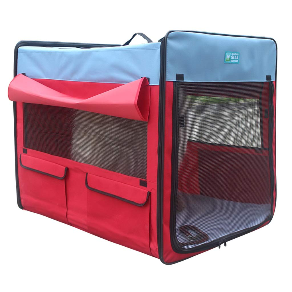 Red 669673cm Red 669673cm Playpens & Pens Pet Four Seasons Tent Small And Medium Pets Indoor Cat Delivery Room Outdoor Folding Pet Fence Portable Waterproof Dog House Pet Travel Tent (color   Red, Size   66  96  73cm)