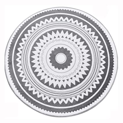 Amazoncom Nordic Fashion Dark Grey Round Rug NonSlip Tea Table - Rug size for 60 round table