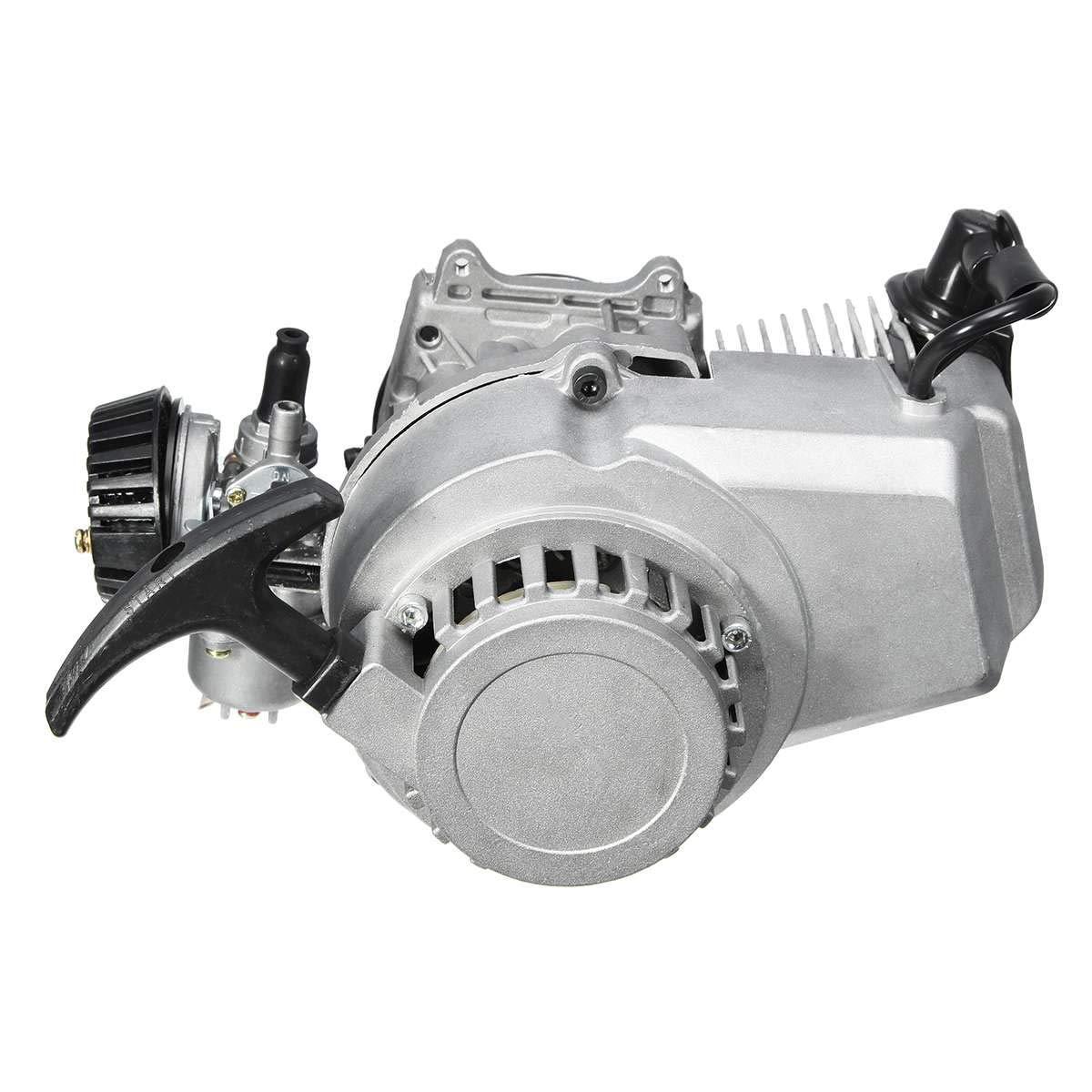 49cc 2-Stroke CDI Hand Pull Start Engine Motor For Pocket Bike Mini Dirt Bike ATV Scooter by Unkows (Image #3)
