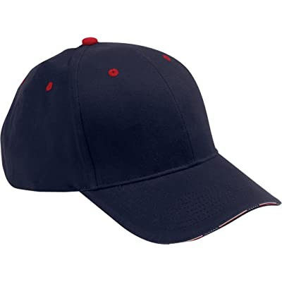 Adams Brushed Cotton Twill Patriot Cap - Navy/ Red