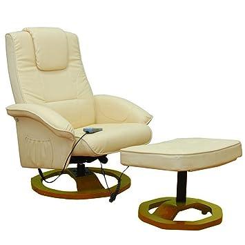 Vidaxl Massagesessel Fernsehsessel Mit Hocker Relaxsessel Massage